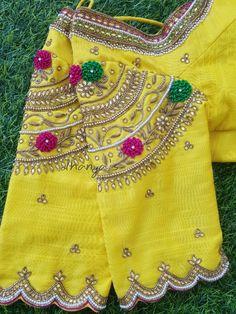 Kalamkari Blouse Designs, New Saree Blouse Designs, Blouse Designs High Neck, Hand Work Blouse Design, Simple Blouse Designs, Stylish Blouse Design, Hand Embroidery Design Patterns, Designer Blouse Patterns, Maggam Work Designs