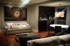 Sala de estar e jantar desenvolvidas por #danielmaia .