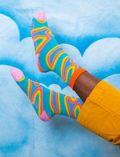 Silly Socks, Funky Socks, Crazy Socks, Cute Socks, Colorful Socks, Sport Style, Designer Socks, Fashion Socks, Mode Outfits