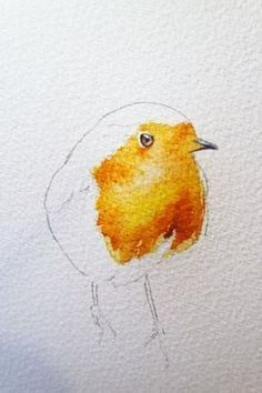 to paint a robin in 8 easy steps. How to paint a robin in 8 easy steps. – watercolours by rachelHow to paint a robin in 8 easy steps. – watercolours by rachel Painting & Drawing, Watercolor Painting Techniques, Easy Watercolor, Watercolour Tutorials, Painting Lessons, Watercolor Trees, Watercolour Art, Watercolor Portraits, Watercolor Landscape