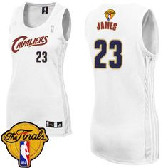 23 Adidas Authentic LeBron James Women s White NBA Jersey - Home Cleveland  Cavaliers The Finals 32394c347a