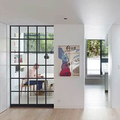 Crittall wall - visible playroom from hall? Home, Interior Windows, House Design, Open Plan Kitchen Living Room, New Homes, House Extension Design, Internal Glass Doors, Interior Design Mood Board, Crittall