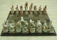 Animals chess set.