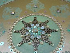 Bronze and Green Mandala - Detail by Magical Mystery Tuca, via Flickr
