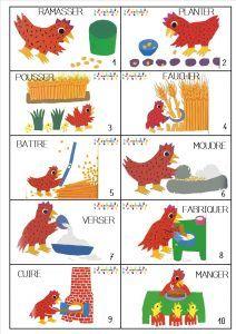 La petite poule rousse : remettre les actions dans l'ordre de l'histoire – MC en maternelle