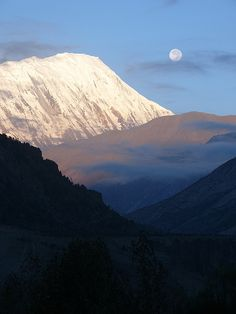 moon, clouds, mountains, Nepal | Flickr - Photo Sharing!