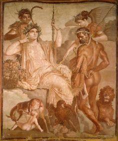 Antichità da Ercolano - Achille e Chitone 65-79 d.C. Affresco Ercolano, Augusteum (cd. Basilica) Napoli