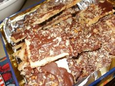 Club Cracker Toffee - This recipe is so easy & soooo yummy! I literally had to resist eating the whole pan by myself! I brought them to an event at our church & they were a huge hit. Everyone loved them!