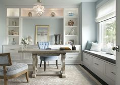 "office Paint Color: ""Benjamin Moore Blue Lace 1625"