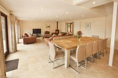 Thorncombe dining and living areas