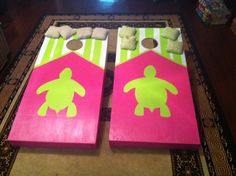 Tailgating Fun with a Delta Zeta inspired CornHole Game perfect for everyone football game or outside event!!