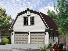 Studio Apartment Plans | Barn-Style, 2-Car Garage Apartment Plan ...