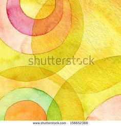 Abstract watercolor circle painted background by Rudchenko Liliia, via Shutterstock