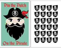 pin the patch on the pirate Pirate Party Games, Birthday Party Games, 4th Birthday Parties, 5th Birthday, Pirate Games For Kids, Birthday Ideas, Birthday Cards, Pirate Day, Pirate Birthday