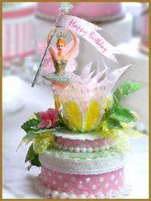 """Garden Fairy"" Birthday Cake Topper"