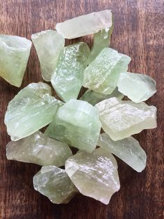 Rough Green Calcite Crystal Healing Stone Prosperity Restoring Balance Positive Chakra Wicca Reiki by GotRockz on Etsy