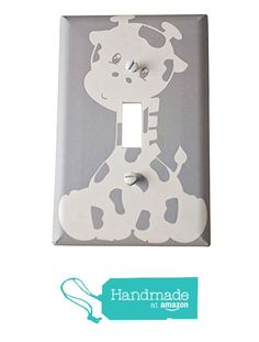 Gray Giraffe light switch plate from Digitaldoodlebug