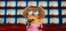 When you're at karaoke and your jam comes on: | 23 Times Minions Perfectly Captured Your Life