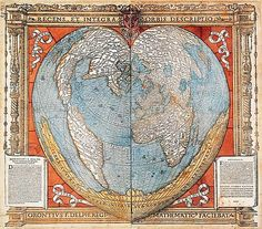 Heart Shaped Map-Oronce Fine-1494-1555