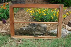 Vintage 2 Pane Wood Window Frame Sash From Old Southern Home