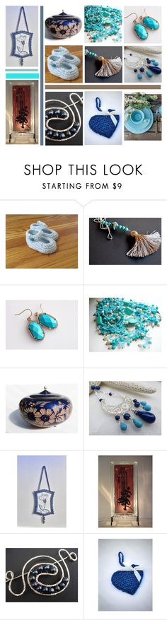 """""""Week-end Blues"""" by inspiredbyten ❤ liked on Polyvore featuring Lazuli, Campanile, Rustico and vintage"""