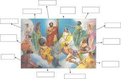 δασκαλαΒΜ2 (ιστολόγιο για τη Γ΄τάξη): Η Τιτανομαχία και η Γιγαντομαχία - Οι Θεοί του Ολύμπου Blog Page, Diagram, History, Painting, Historia, Painting Art, Paintings, History Activities