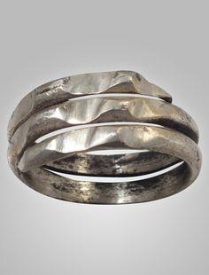 Ancient Viking Mens Coil Wedding Ring York UK 866-1067A.D.
