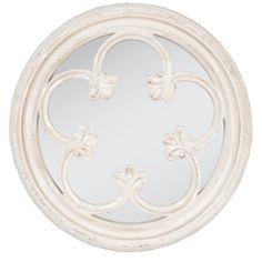 Round Timber Ornate Mirror – Allissias Attic & Vintage French Style