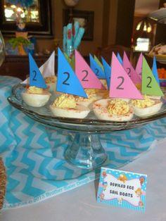 Bubble Guppy Party. Sail boat eggs