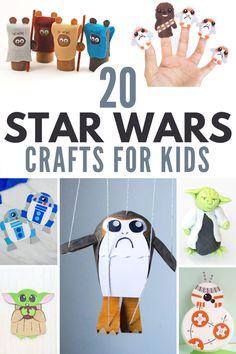 20+ Star Wars Crafts for Kids! #starwars #easycrafts #funstuff Summer Crafts For Kids, Crafts For Boys, Paper Crafts For Kids, Crafts For Kids To Make, Cute Crafts, Kids Activities At Home, Star Wars Crafts, Budget Crafts, Starwars