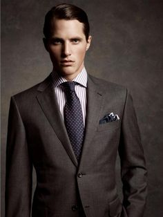 Want to take your suit up a notch? Mix 2 patterns like a stripe & a dot. Just keep them in a similar color family to start off safer.