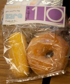 Tenth Birthday--Terrific 10 Classroom Treats - My Insanity Birthday Snacks, 10th Birthday Parties, Birthday Favors, Birthday Fun, Party Favors, Cake Birthday, Birthday Treats For School, Birthday Breakfast, Birthday Recipes