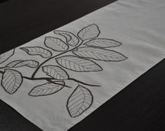 Flower Placemats Linen Placemats Set of 4 Beige Linen White