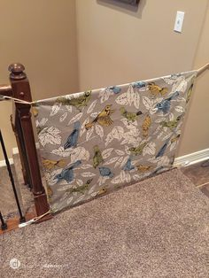 DIY Fabric Baby Gate from DesigningDawn.com