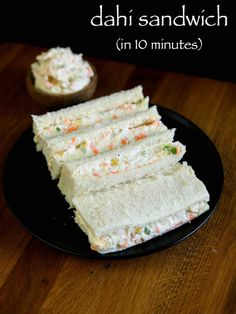 dahi sandwich recipe, hung curd sandwich, cold sandwiches recipes with step by step photo/video. easy healthy tasty kids tiffin sandwich or breakfast recipe Breakfast Recipes, Snack Recipes, Cooking Recipes, Breakfast Ideas, Cooking Tips, Appetiser Recipes, Breakfast Toast, Veg Recipes, Chicken Recipes