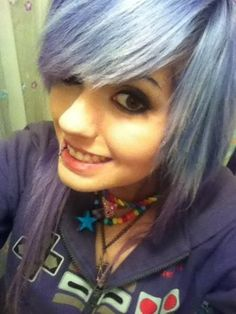Leda Muir #pastel #purple #hair