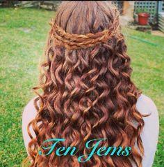 boho braid & curls