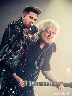 .@ AdamLambert and @DrBrianMay at Madison Square Garden!!! Thanks for an AMAZING show!!!!