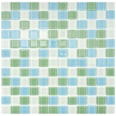 Merola Tile Spectrum 11-3/4 in. x 11-3/4 in. Fresh Glass Square Mesh-Mounted Mosaic Tile-GDXSSQF at The Home Depot