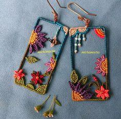 Macrame Earrings, Macrame Bracelets, Crochet Earrings, Earrings Handmade, Handmade Jewelry, Macrame Jewelry Tutorial, Macrame Dress, Macrame Design, Macrame Projects