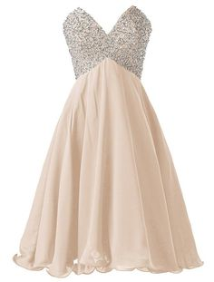 champagne short homecoming dresses,v-neck homecoming dresses, beading homecoming…
