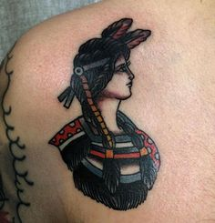 Native girl tattoo