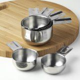 Kitchenmade Stainless Steel Measuring Cups 6 Piece Stackable Set - http://howtomakeastorageshed.com/articles/kitchenmade-stainless-steel-measuring-cups-6-piece-stackable-set/