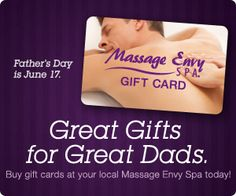 2012 Father's Day - Spa Gift Cards