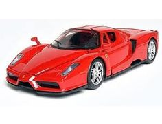 The Maisto Ferrari Enzo, is a diecast model kit car from this fantastic manufacturer in 1/24th scale.    1:24th scale Assembly Line model kit. Easy assembly, no paint or glue involved here as everything is included in the box - including the screwdriver!    Highly detailed die-cast metal body with plastic parts. Opening parts and rolling wheels on completed kit.