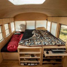 Tiny house in converted school bus