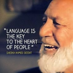 The late Ahmed Deedat...May Allah have mercy on him.