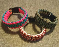 Adjustable Paracord Bracelet by DalyGoodies on Etsy