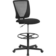 Offex Ergonomic Mid-back Grey Height-Adjustable Drafting Chair