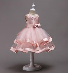 Girly Shop's Pink Beautiful & Cheap Round Neckline Sleeveless Knee Length Tiered Layered Infant Toddler Little & Big Girl Party DressBlush Pink Satin Tulle Girl Dress, TuTu Dress,Flower Girl Dresses with Pearl bow, Baby Kids BirthdayBoy Meets World F Baby Girl Party Dresses, Girls Dress Up, Frocks For Girls, Wedding Dresses For Girls, Birthday Dresses, Little Girl Dresses, Flower Girl Dresses, Birthday Tutu, Kid Dresses